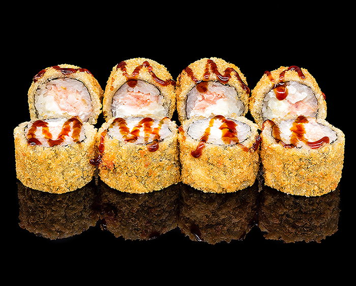 Ролл Мини темпура с лососем